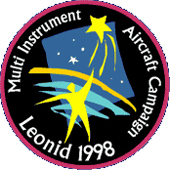 mission patch 1998 Leonid MAC